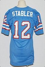 official photos 6ca39 6cffd Lot Detail - Circa 1980 Ken Stabler Houston Oilers Game-Used ...