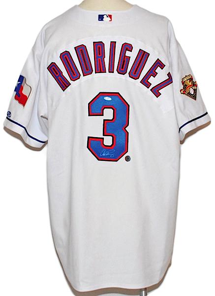 buy popular bf0b3 e1e95 Lot Detail - Alex Rodriguez Texas Rangers Autographed ...
