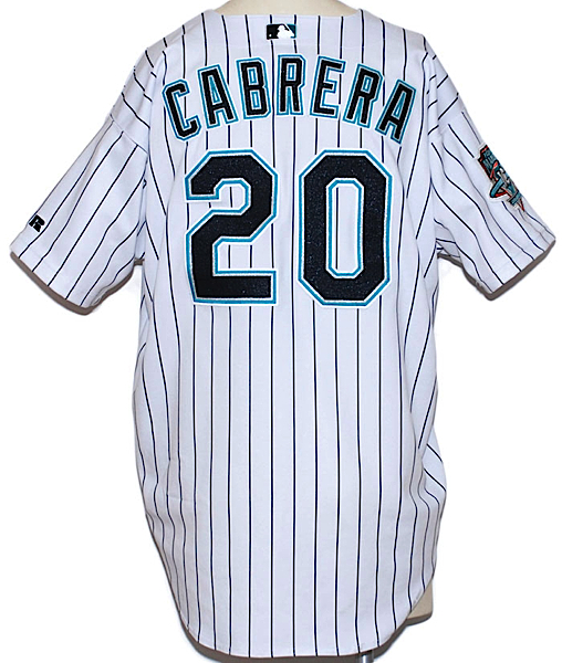 separation shoes fa63f dd8d3 Lot Detail - 2003 Miguel Cabrera Rookie Florida Marlins Game ...