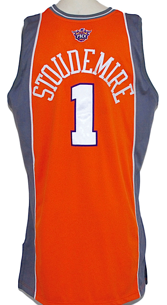 Lot Detail - 2006-2007 Amare Stoudemire Phoenix Suns Game-Used Road ... bc7a8338c