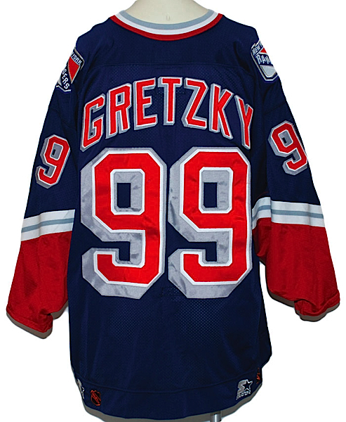 Lot Detail - 1996-1997 Wayne Gretzky NY Rangers Game-Used Alternate ... d4bb221f209