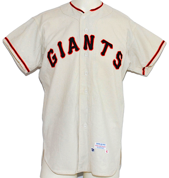 1959 Ray Monzant San Francisco Giants Game-Used Home Flannel Jersey