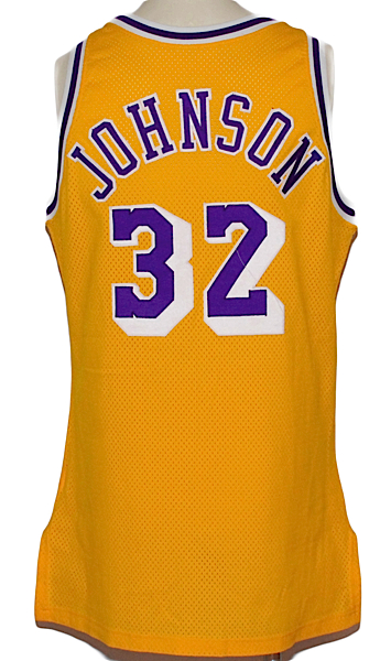"best loved 0b984 528f3 Lot Detail - 1990-1991 Earvin ""Magic"" Johnson LA Lakers Game ..."