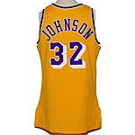"1990-1991 Earvin ""Magic"" Johnson LA Lakers Game-Used & Autographed Home Jersey (JSA)"