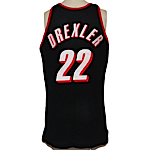 Early 1990s Clyde Drexler Portland Trailblazers Game-Used Road Jersey