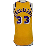 1979-80 Kareem Abdul-Jabbar Los Angeles Lakers Game-Used Home Jersey (Championship Season) (Lakers Employee LOA)
