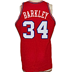 1986-1987 Charles Barkley Philadelphia 76ers Game-Used & Autographed Road Jersey (JSA)