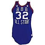 1976 Dr. J Julius Erving ABA All-Star Game Game-Used & Slam Dunk Contest Worn Uniform (Ball Boy LOA) (Photo & Video Match)