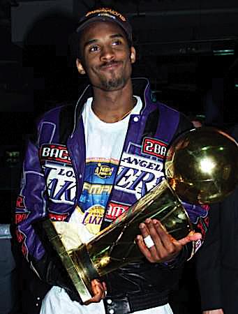 Lot Detail 2000 2001 Kobe Bryant La Lakers Worn Championship Jacket With Photos Of Kobe Wearing The Jacket Photo Match