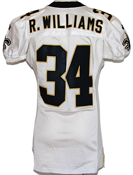 Lot Detail 1999 Ricky Williams Rookie New Orleans Saints Game Used