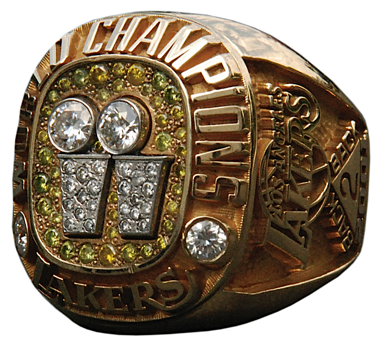 Lot Detail 2001 Los Angeles Lakers World Championship Ring Team Employee