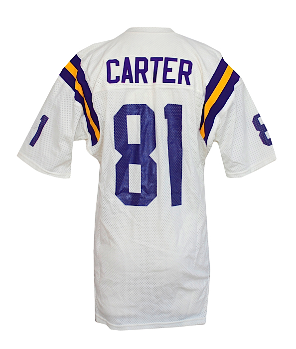 on sale cfcdc 205fa Lot Detail - Early 1980s Anthony Carter Minnesota Vikings ...