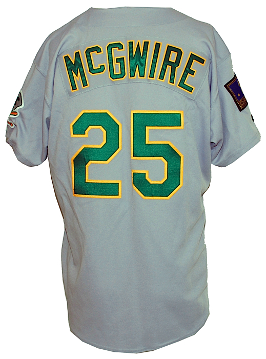 sale retailer 78d93 6b4ce Lot Detail - 1994 Mark McGwire Oakland Athletics Game-Used ...