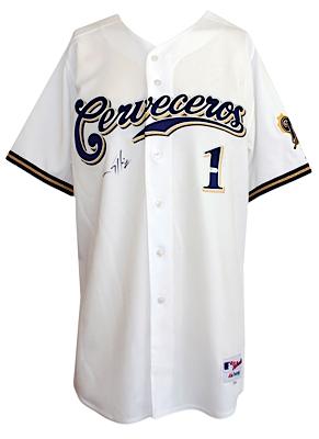 timeless design 8753d a17da Lot Detail - 9/6/2008 Corey Hart Milwaukee Brewers ...