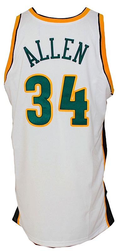 huge discount 08b78 2b482 Lot Detail - 2004-2005 Ray Allen Seattle Sonics Game-Used ...