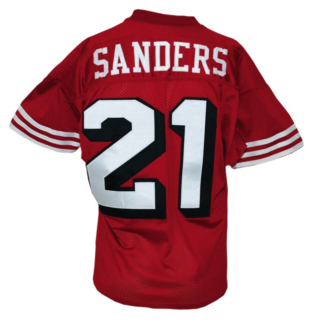 buy popular fdb3e 296f6 Lot Detail - 9/25/1994 Deion Sanders San Francisco 49ers ...