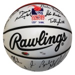 Autographed Coaches vs. Cancer Limited Edition Basketball (JSA) (Steiner)