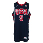 2004 Stephon Marbury USA Olympic Game-Used Road Jersey