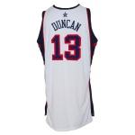 2004 Tim Duncan USA Olympic Game-Used Home Jersey