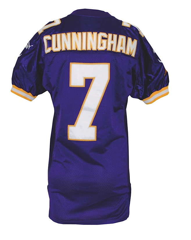 sports shoes 1c999 79ee7 Lot Detail - 1999 Randall Cunningham Minnesota Vikings Game ...