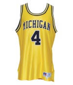 1992-93 Chris Webber Michigan Wolverines Game-Used Home Jersey