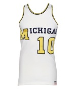Late 1960s Michigan Wolverines #10 Game-Used Home Jersey & Mid 1960s Michigan Wolverines #40 Game-Used Road Jersey (2)