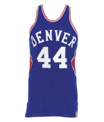 1974-1975 Ralph Simpson Denver Nuggets ABA Game-Used Road Jersey