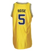 1993-1994 Jalen Rose Michigan Wolverines Game-Used Home Jersey