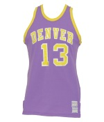 Circa 1972 Julius Keye Denver Rockets ABA Game-Used Road Jersey