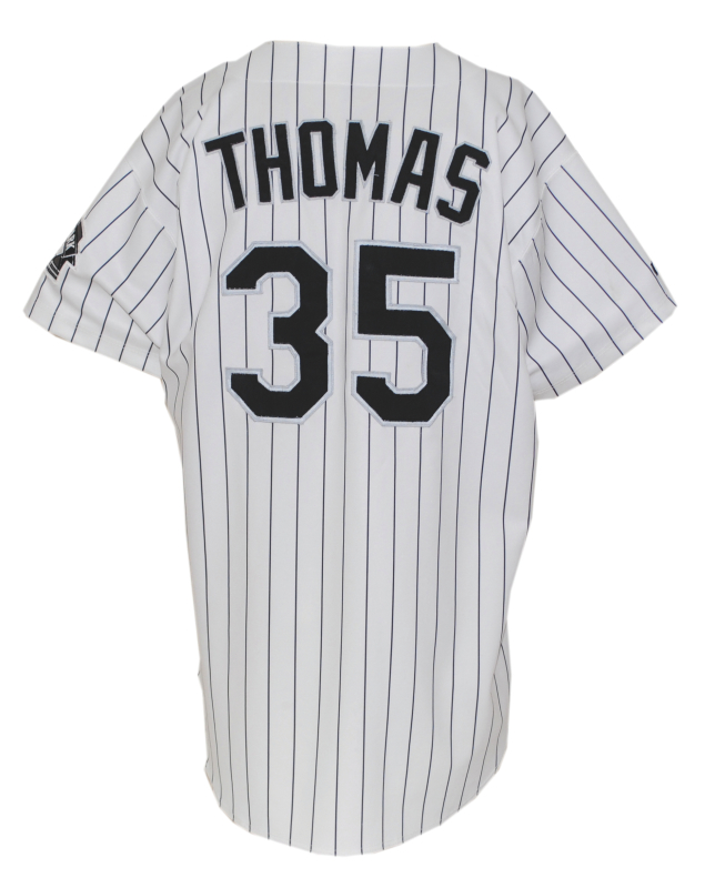 a9eaea1db4b Lot Detail - 1998 Frank Thomas Chicago White Sox Game-Used Home Jersey
