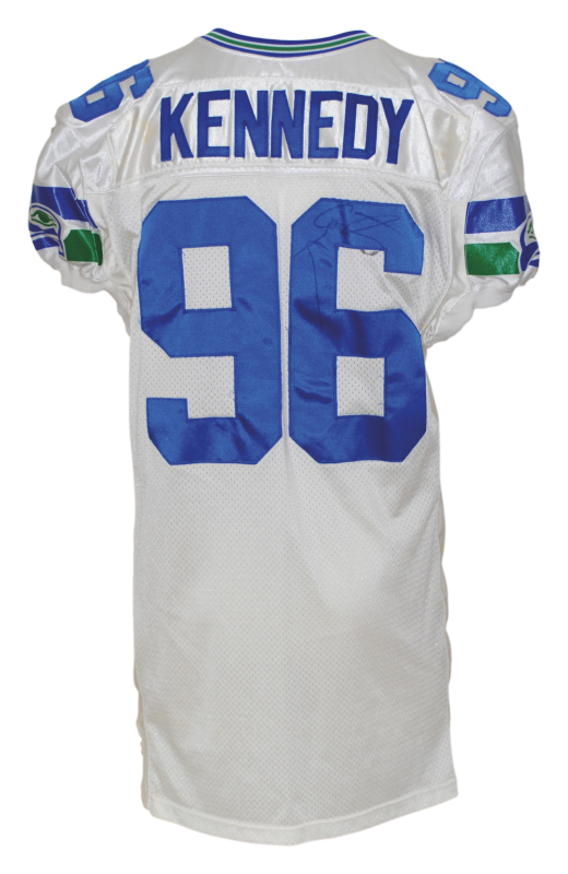 Hot Lot Detail 1995 Cortez Kennedy Seattle Seahawks Game Used