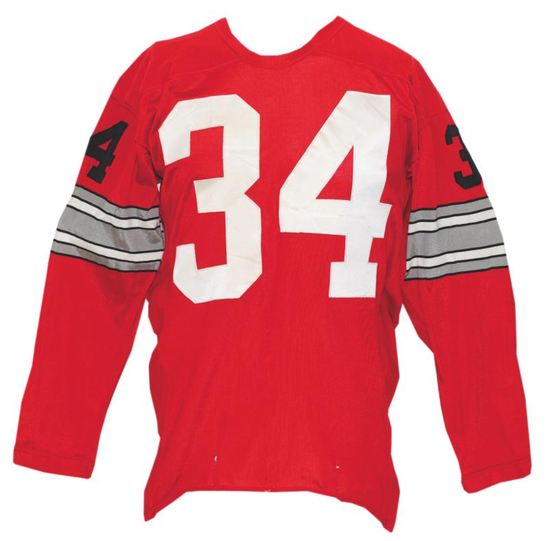 ec0698006 Lot Detail - Circa 1968 Ohio State Buckeyes  34 Game-Used Red Durene ...