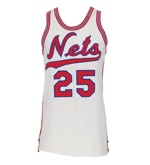 Circa 1970 Bill Melchionni New York Nets ABA Game-Used Home Jersey (Trautwig Collection) (Trautwig LOA)