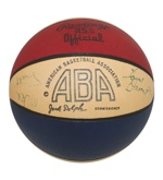 1971-72 Kentucky Colonels ABA Team Signed Jack Dolph Basketball (JSA)