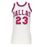 1972-73 Larry Jones Dallas Chaparrals ABA Game-Used Home Jersey