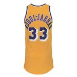 Early 1980's Kareem Abdul-Jabbar Los Angeles Lakers Game-Used Home Uniform (2)