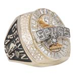 2005 George Gervin San Antonio Spurs Championship Ring with Original Box (Gervin LOA)