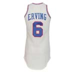 "Early 1980's Julius ""Dr. J"" Erving Philadelphia 76ers Game-Used Home Jersey"