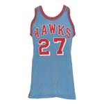 Circa 1967 Joe Caldwell St. Louis Hawks Game-Used Road Jersey