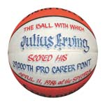 "4/11/1986 Julius ""Dr. J"" Erving 29,000th Career Point Basketball (Erving Collection) (Erving Family LOA)"