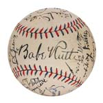 Incredible 1930 NY Yankees Team Autographed Baseball with Ruth & Gehrig (Nicest Extant) (Full JSA LOA) (Letter of Provenance - Originates From Jacob Ruppert)