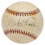 Babe Ruth Single Signed Baseball (JSA)