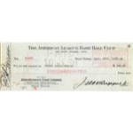 "9/25/1930 ""Henry Louis Gehrig"" Endorsed NY Yankees Bonus Check Also Signed by Jacob Ruppert (Rare)(JSA)"