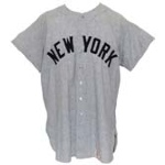 1960 Joe DeMaestri NY Yankees Game-Used Road Flannel Jersey (World Series Year)