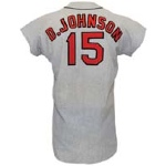 1971 Davey Johnson Baltimore Orioles Game-Used Road Flannel Jersey