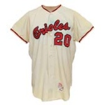 1966 Frank Robinson Baltimore Orioles Game-Used Home Flannel Jersey (MVP & Championship Season)