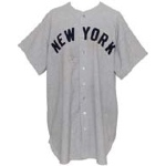1946 Tiny Bonham NY Yankees Game-Used Road Flannel Jersey
