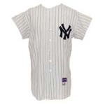 1963 Clete Boyer NY Yankees Game-Used & Autographed Home Flannel Jersey (JSA)(World Series Year)