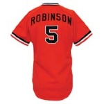 1977 Brooks Robinson Baltimore Orioles Game-Used & Autographed Alternate Jersey (JSA)(Final Season)