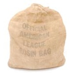 10/8/1956 Don Larsen World Series Perfect Game Rosin Bag from Yankee Stadium (Ball Boy LOA)(Museum Documentation)